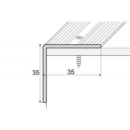 A34 35x35 mm kątownik aluminiowy schodowy
