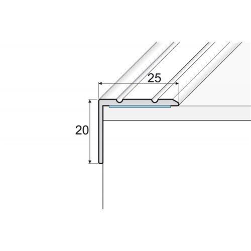 A36 20mm x 25mm kątownik aluminiowy schodowy