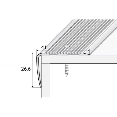 A42 35mm x 35mm kątownik aluminiowy schodowy
