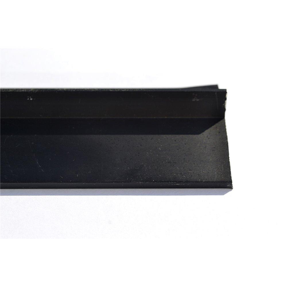 Czarny okapnik balkonowy 300 cm aluminium anodowane