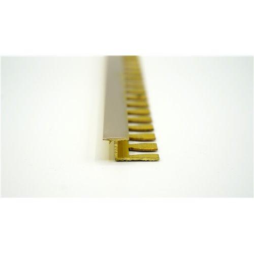 H12mm Teownik mosiądz szczotkowany do łączenia płytka panel 12mm}