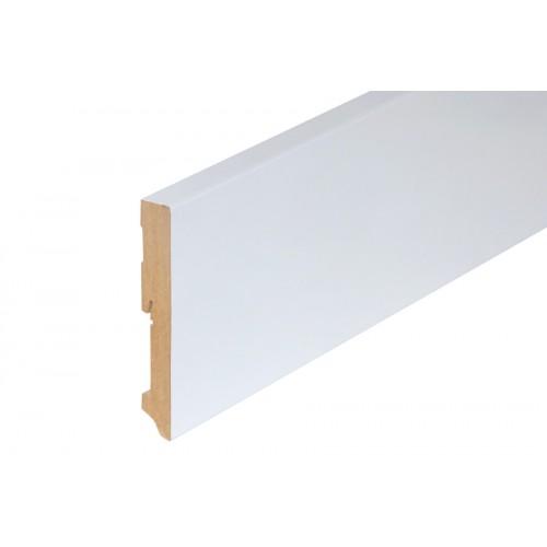 Listwa przypodłogowa biała MDF lakier 120x19 mm 2,4 m}