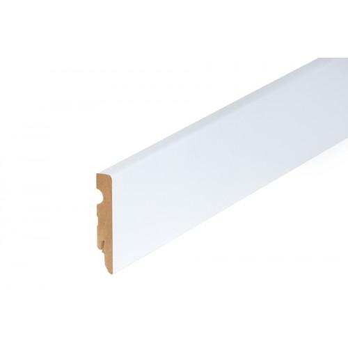 Listwa przypodłogowa biała MDF lakier 80x15 mm 2,4 m}