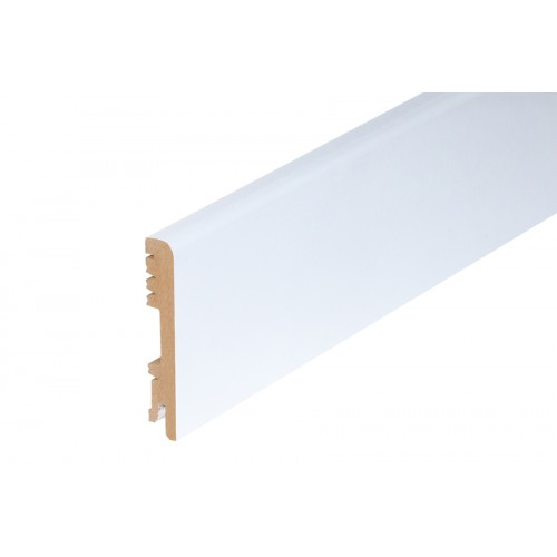 Listwa przypodłogowa Biały Półmat MDF 100x16 mm 2 m}