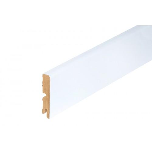 Listwa przypodłogowa Biały Półmat MDF 80x16 mm 2 m}