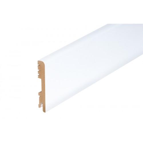Listwa przypodłogowa Biała Wysoki Połysk MDF 100x16 mm 2 m}