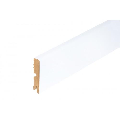 Listwa przypodłogowa biała wysoki połysk MDF 80x16mm 2m}