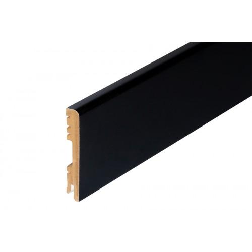 Listwa przypodłogowa czarna półmat MDF 100x16 mm 2 m}