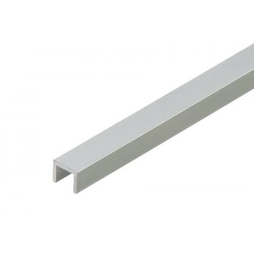 Profil zakończeniowy kształtownik srebrny forma U aluminium anoda 10x8x1,5 mm}