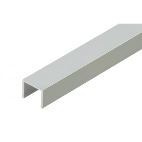 Profil zakończeniowy kształtownik srebrny forma U aluminium anoda 16x13x1,5 mm}