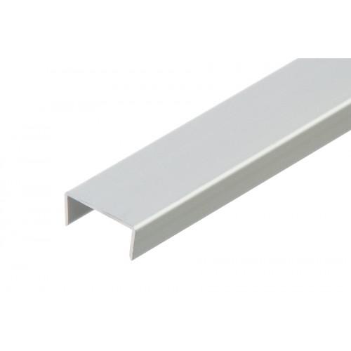 Profil zakończeniowy kształtownik srebrny forma U aluminium anoda 20x10x1,5 mm}