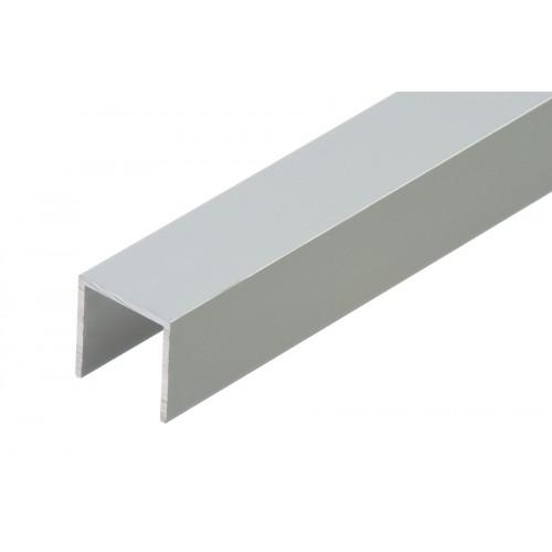 Profil zakończeniowy kształtownik srebrny forma U aluminium anoda 20x20x1,5 mm}