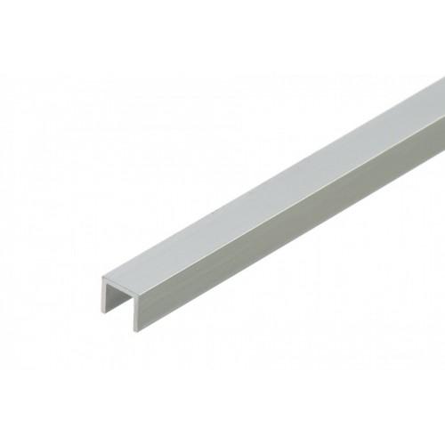 Profil zakończeniowy kształtownik srebrny forma U aluminium anoda 8x8x1 mm}