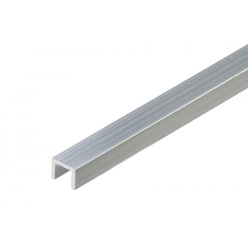Profil zakończeniowy kształtownik srebrny forma U aluminium naturalne 10x8x1,5 mm}