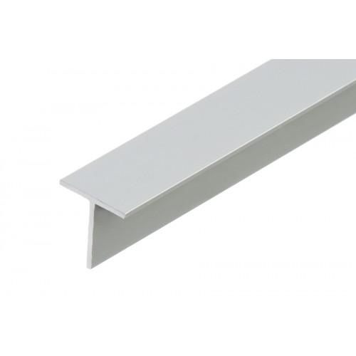 Profil zakończeniowy kształtownik srebrny forma T aluminium anoda 20x20x1,5 mm}