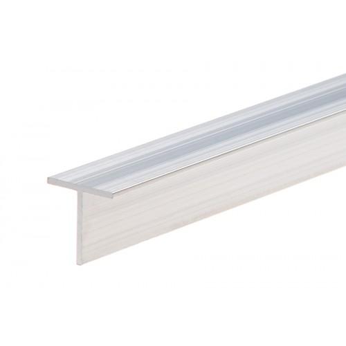 Profil zakończeniowy kształtownik srebrny forma T aluminium naturalne 20x20x1,5 mm}