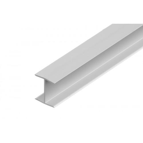 Profil połączeniowy do płyt forma H srebrny aluminium anoda 20,5x17 mm}
