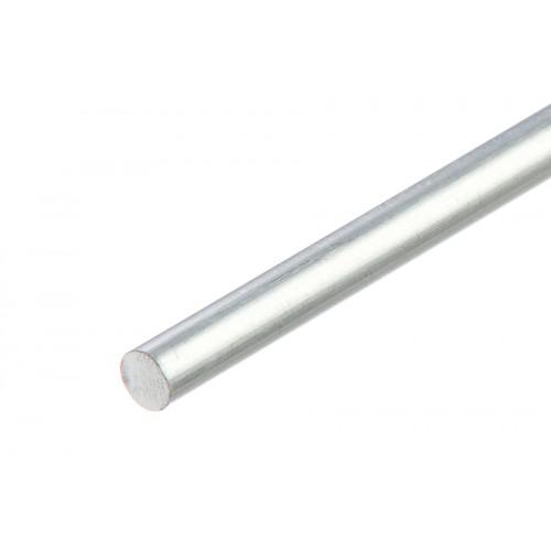 Sztanga okrągła srebrna aluminium naturalne 6 mm}