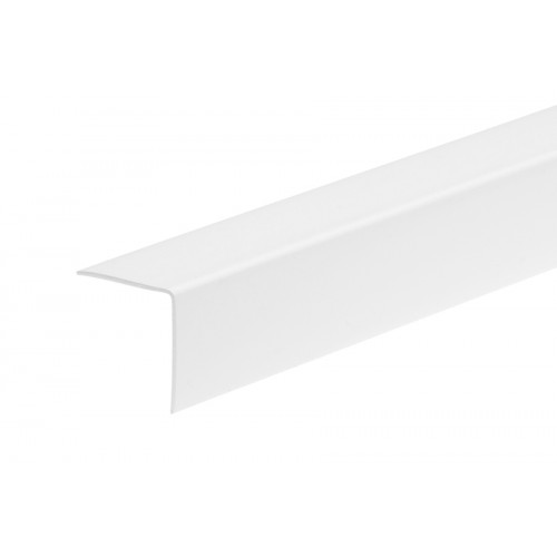 Kątownik plastikowy (PVC) równoramienny 25x25 mm 2,75 m}