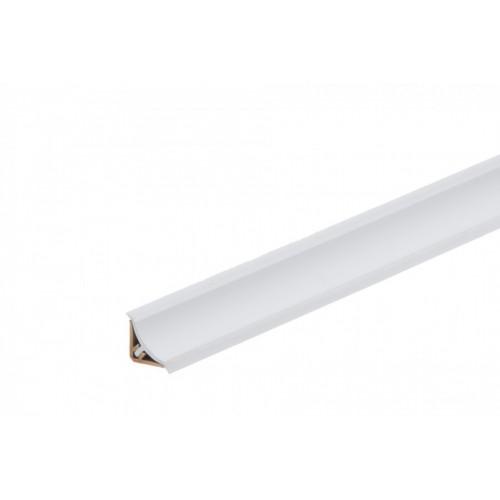Listwa przyblatowa wklęsła wąska BL22 Biały Zimny Połysk PVC}
