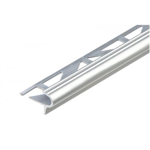 Profil schodowy półokrągły srebrny aluminium naturalne 9 mm}