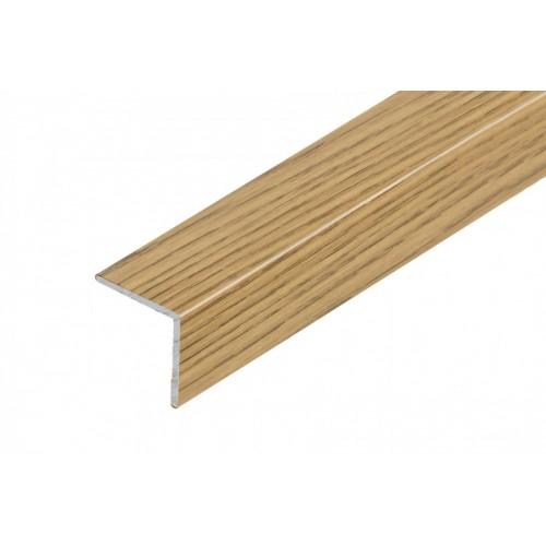 Profil schodowy narożny klejony aluminium laminat 20x20 mm 1,35 m}