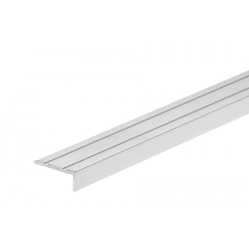Profil schodowy narożny klejony srebrny aluminium anoda 25x10 mm}