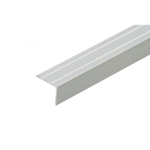 Profil schodowy narożny klejony srebrny aluminium anoda 25x20 mm 1,35 m}