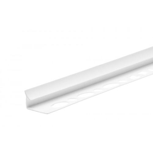 Profil wewnętrzny szeroki do glazury biały PVC 2,5 m}