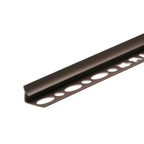 Profil wewnętrzny szeroki do glazury brązowy ciemny PVC 2,5 m}