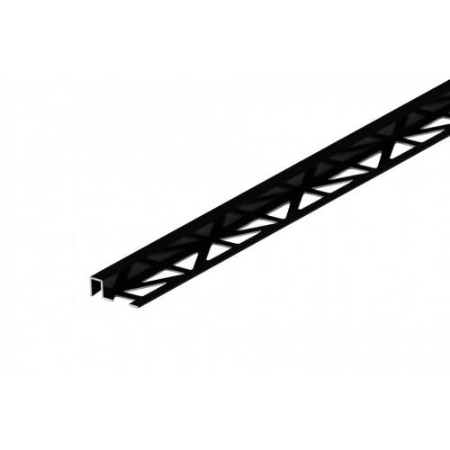 Profil krawędziowy kwadratowy do glazury czarny aluminium anoda poler 9x8 mm 2,5 m}