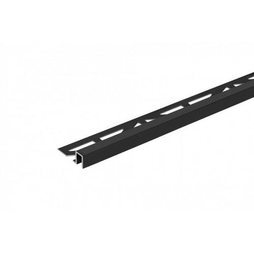 Profil krawędziowy kwadratowy do glazury czarny aluminium anoda szczotkowana poler 9x8 mm 2,5 m}