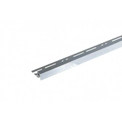 Profil krawędziowy kwadratowy do glazury Opal aluminium anoda poler 9x8 mm 2,5 m}