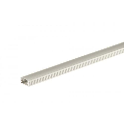 Profil aluminiowy do taśmy LED prosty z osłonką mrożoną srebrny aluminium anoda 14x7 mm 1 m}