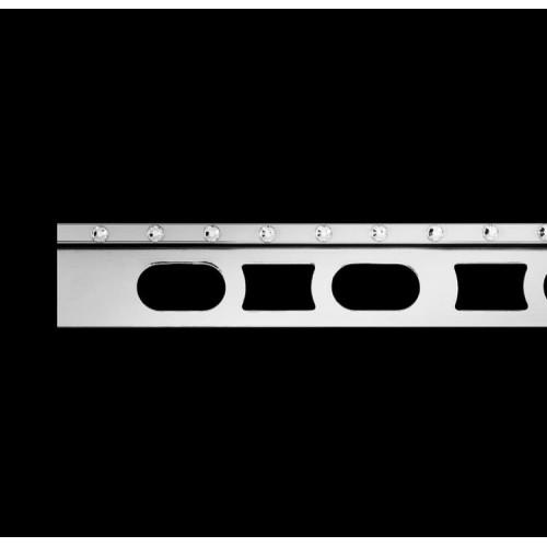 Profil z mosiądzu chromowanego z kryształkami Swarovski® Cerfix Prodecor C Design}