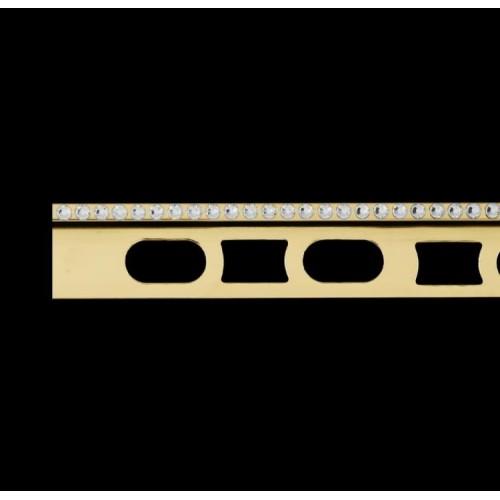 Profil z mosiądzu pozłacanego 24K z kryształkami Swarovski® Cerfix Prodecor C Design}