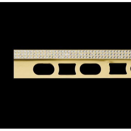 Profil z mosiądzu pozłacanego 24K z kryształkami Swarovski® Cerfix Prostyle C Design}