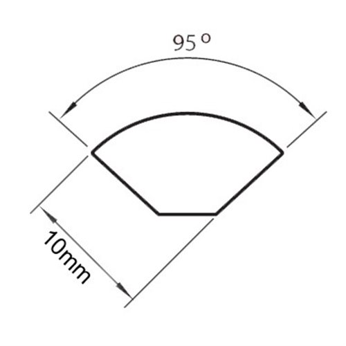 Ćwierćwałek 10x10mm PCV