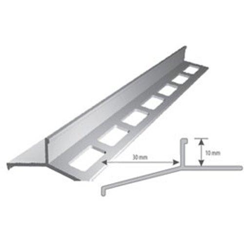 Srebrny okapnik 250cm balkonowy al. anoda srebrny