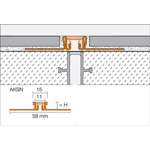 Dylatacja aluminiowa  Dilex-AKSN