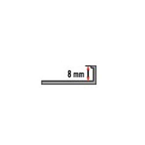8mm Listwa L do glazury aluminium