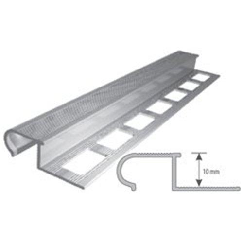 Aluminiowy profil schodowy zaokrąglony aluminium