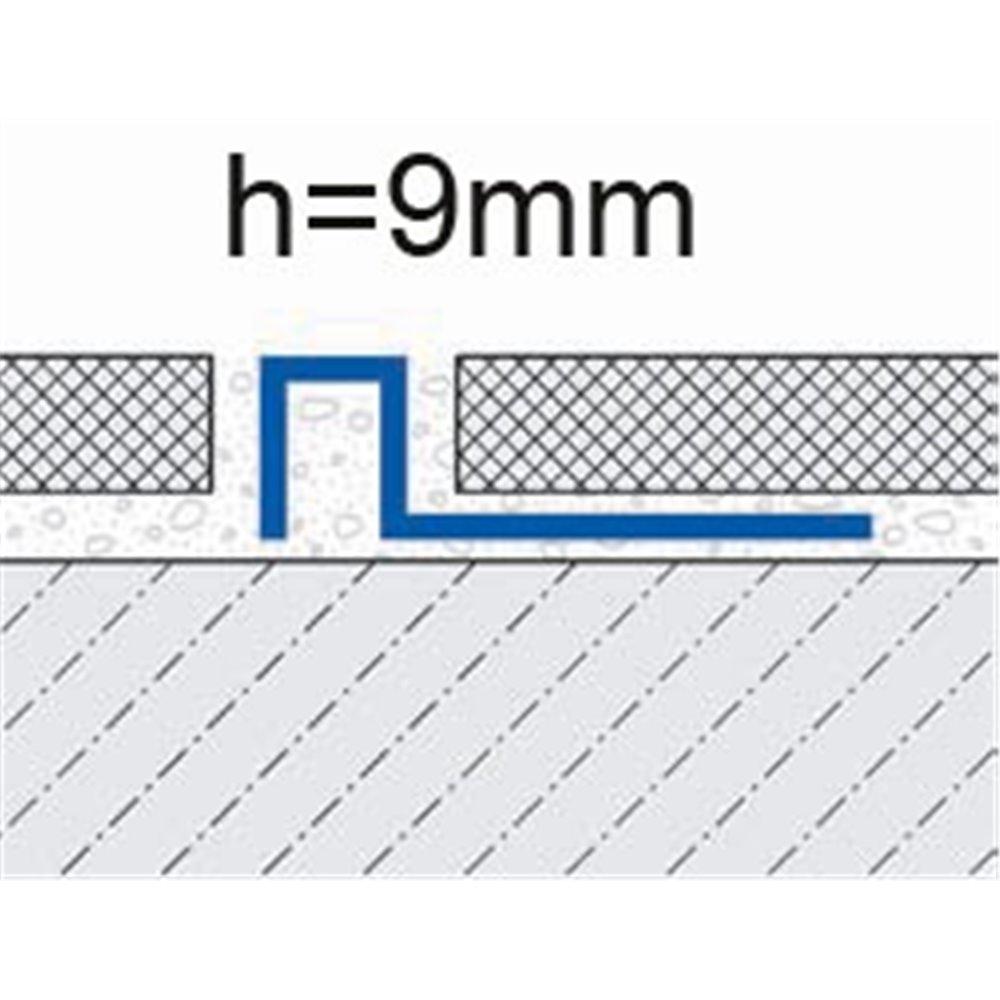 Profil wykończeniowy łączący do płytek  9mm mosiądz