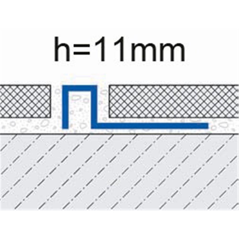 Profil wykończeniowy do oddzielania 11mm mosiądz