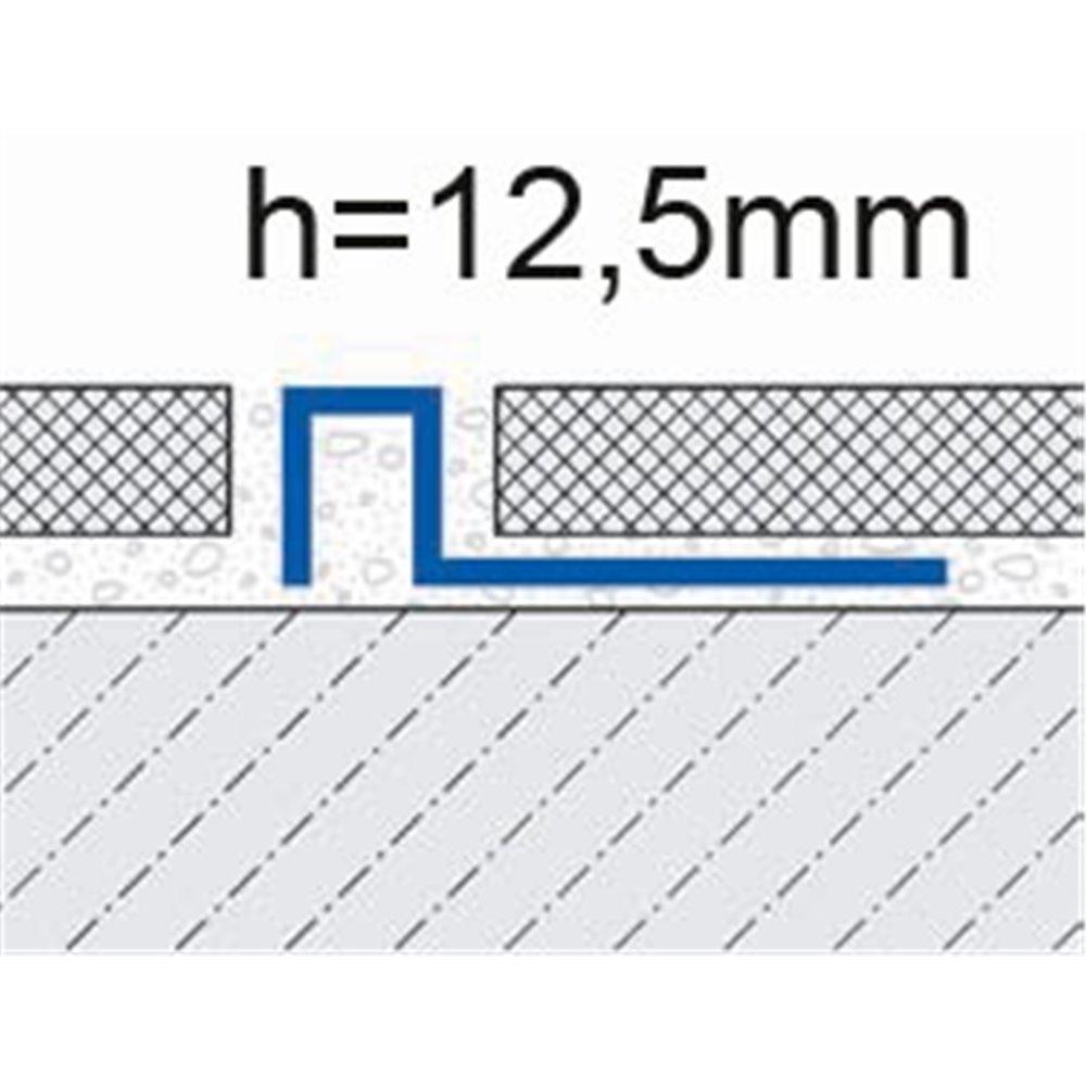 Profil wykończeniowy do oddzielania  12,5mm mosiądz