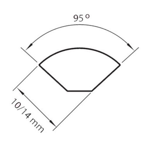 Ćwierćwałek 14mm 300cm w okleinie RENOLIT