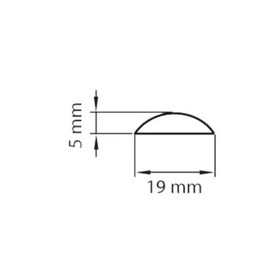Listwa maskująca 19mm PCV drewnopodobny