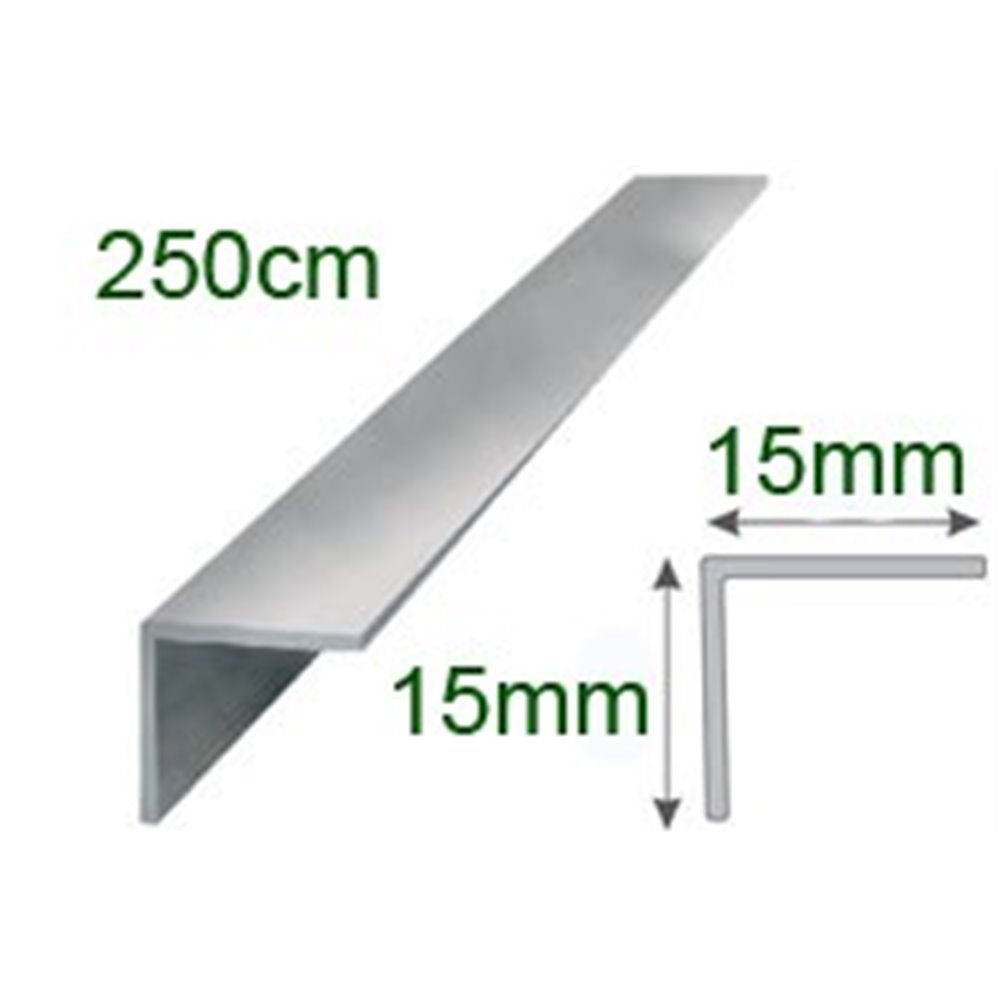 Kątownik polerowany aluminiowy 15x15/250cm