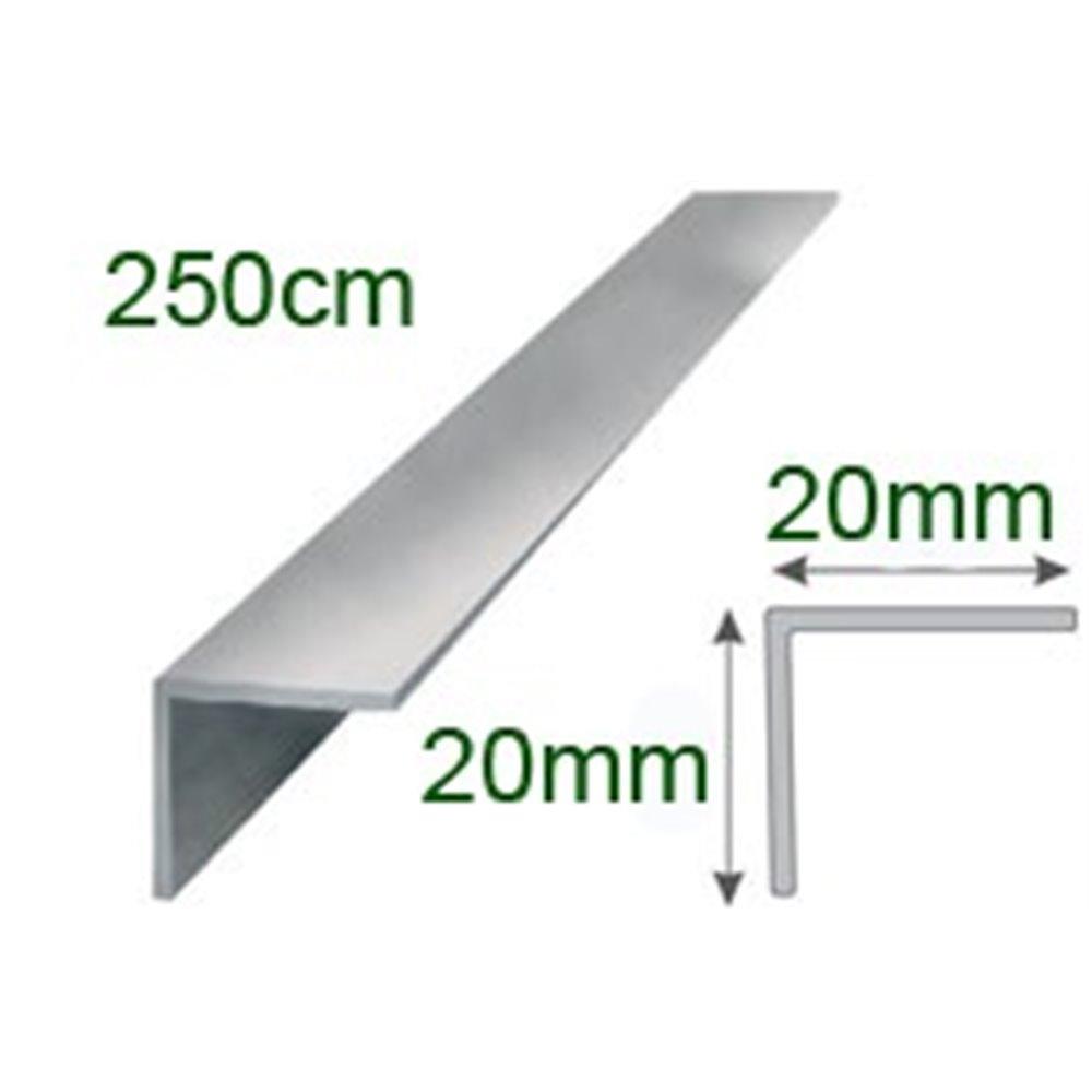 Kątownik polerowany aluminiowy 20x20/250cm