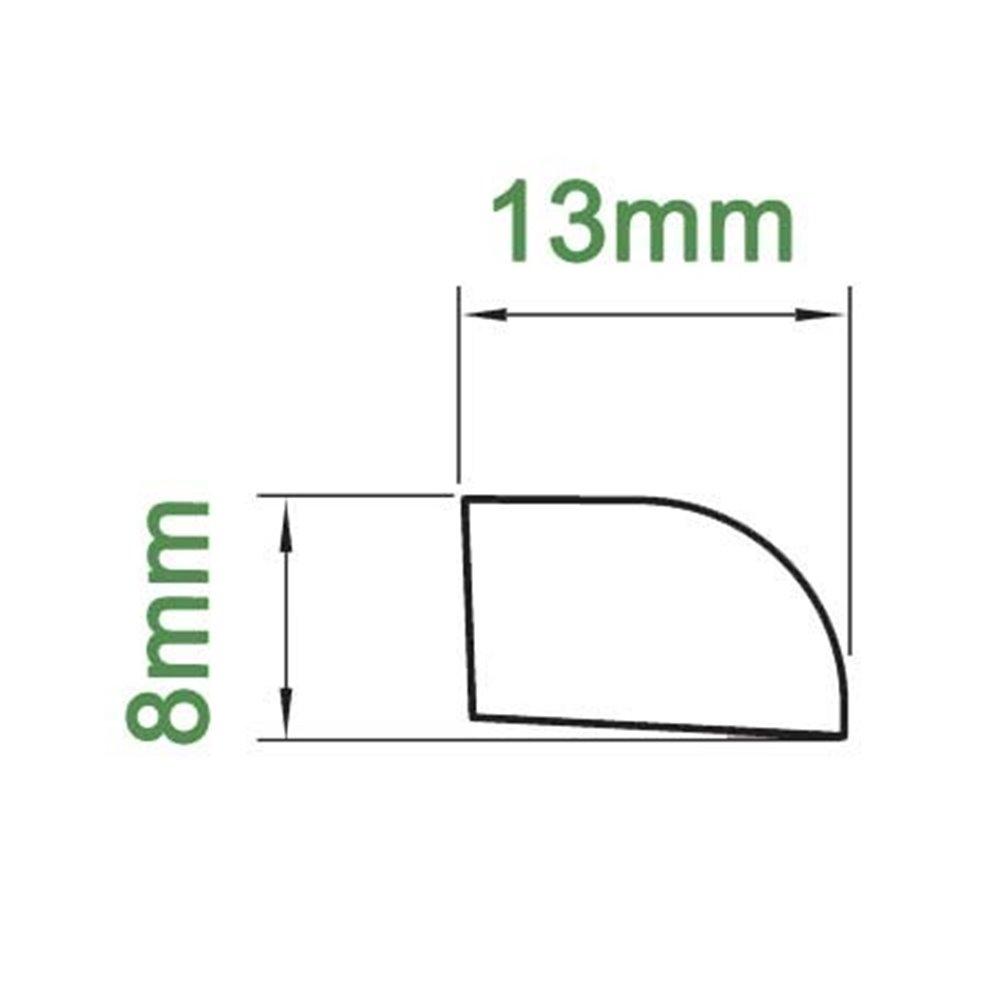 Ćwierćwałek 13X8mm PCV